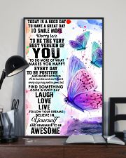 To day is a good day butterfly 11x17 Poster lifestyle-poster-2