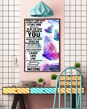 To day is a good day butterfly 11x17 Poster lifestyle-poster-6
