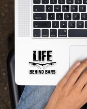 MTB Sticker Life Behind Bars Sticker - Single (Vertical) aos-sticker-single-vertical-lifestyle-front-11