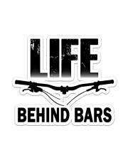 MTB Sticker Life Behind Bars Sticker - Single (Vertical) front