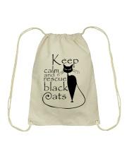 Black Cats Drawstring Bag thumbnail