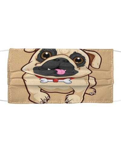 Bulldog Dog Face Mask