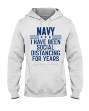 Navy Social Distancing For Years Hooded Sweatshirt thumbnail