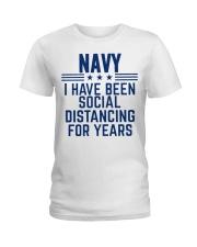 Navy Social Distancing For Years Ladies T-Shirt thumbnail