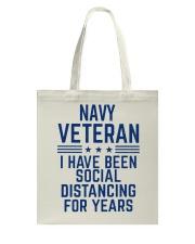 Navy Veteran Social Distancing Tote Bag thumbnail