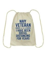 Navy Veteran Social Distancing Drawstring Bag thumbnail