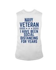 Navy Veteran Social Distancing Sleeveless Tee thumbnail