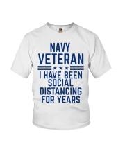 Navy Veteran Social Distancing Youth T-Shirt thumbnail