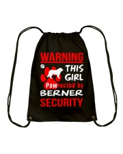 Girls Protected By Berner Dog Drawstring Bag thumbnail
