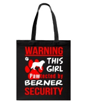 Girls Protected By Berner Dog Tote Bag thumbnail