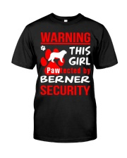 Girls Protected By Berner Dog Classic T-Shirt front