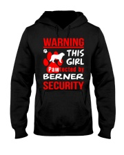 Girls Protected By Berner Dog Hooded Sweatshirt thumbnail