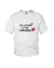 Ice Cream Is My Valentine Youth T-Shirt thumbnail