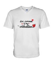 Ice Cream Is My Valentine V-Neck T-Shirt thumbnail