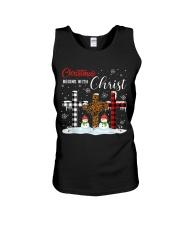 Christmas begins with Christ Snowman Unisex Tank thumbnail