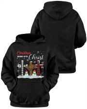 Christmas begins with Christ Snowman Hooded Sweatshirt apparel-hooded-sweatshirt-lifestyle-front-42