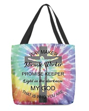 Way maker miracle worker 3D  All-over Tote thumbnail