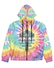 Way maker miracle worker 3D  Women's All Over Print Full Zip Hoodie thumbnail