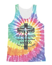 Way maker miracle worker 3D  All-over Unisex Tank thumbnail