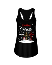 Christmas begins with Christ Ladies Flowy Tank thumbnail