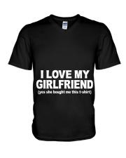 GIRLFRIEND GIRLFRIEND GIRLFRIEND GIRLFRIEND - Tee V-Neck T-Shirt thumbnail