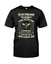 ELECTRICIAN ELECTRICIAN ELECTRICIAN ELECTRICIAN  Classic T-Shirt thumbnail