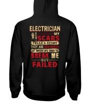 ELECTRICIAN ELECTRICIAN ELECTRICIAN ELECTRICIAN  Hooded Sweatshirt back