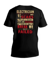 ELECTRICIAN ELECTRICIAN ELECTRICIAN ELECTRICIAN  V-Neck T-Shirt thumbnail