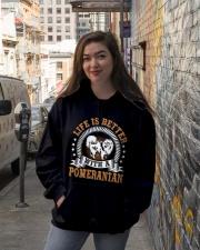 POMERANIAN POMERANIAN POMERANIAN POMERANIAN  Hooded Sweatshirt lifestyle-unisex-hoodie-front-1