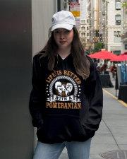 POMERANIAN POMERANIAN POMERANIAN POMERANIAN  Hooded Sweatshirt lifestyle-unisex-hoodie-front-5