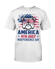 BULLDOG Happy 4th of July - 4th July Classic T-Shirt tile