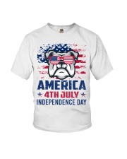 BULLDOG Happy 4th of July - 4th July Youth T-Shirt tile