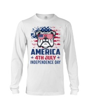 BULLDOG Happy 4th of July - 4th July Long Sleeve Tee tile