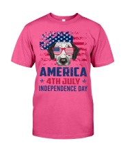Dalmatian Happy 4th of July - 4th July Classic T-Shirt front