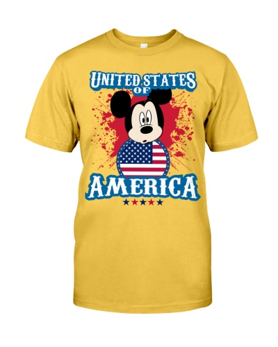 America - American T-Shirt - Mickey Mouse T-Shirt