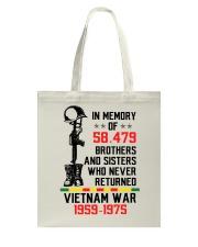 Memory Of Vietnam Veterans Tote Bag thumbnail