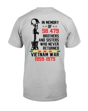 Memory Of Vietnam Veterans Classic T-Shirt back