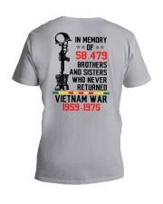 Memory Of Vietnam Veterans V-Neck T-Shirt thumbnail