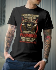 Grumpy Old Plumber Classic T-Shirt lifestyle-mens-crewneck-front-6
