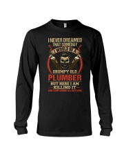 Grumpy Old Plumber Long Sleeve Tee thumbnail