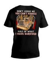 Dont Judge V-Neck T-Shirt tile