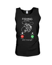 Fishing Calling Unisex Tank tile