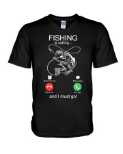 Fishing Calling V-Neck T-Shirt tile