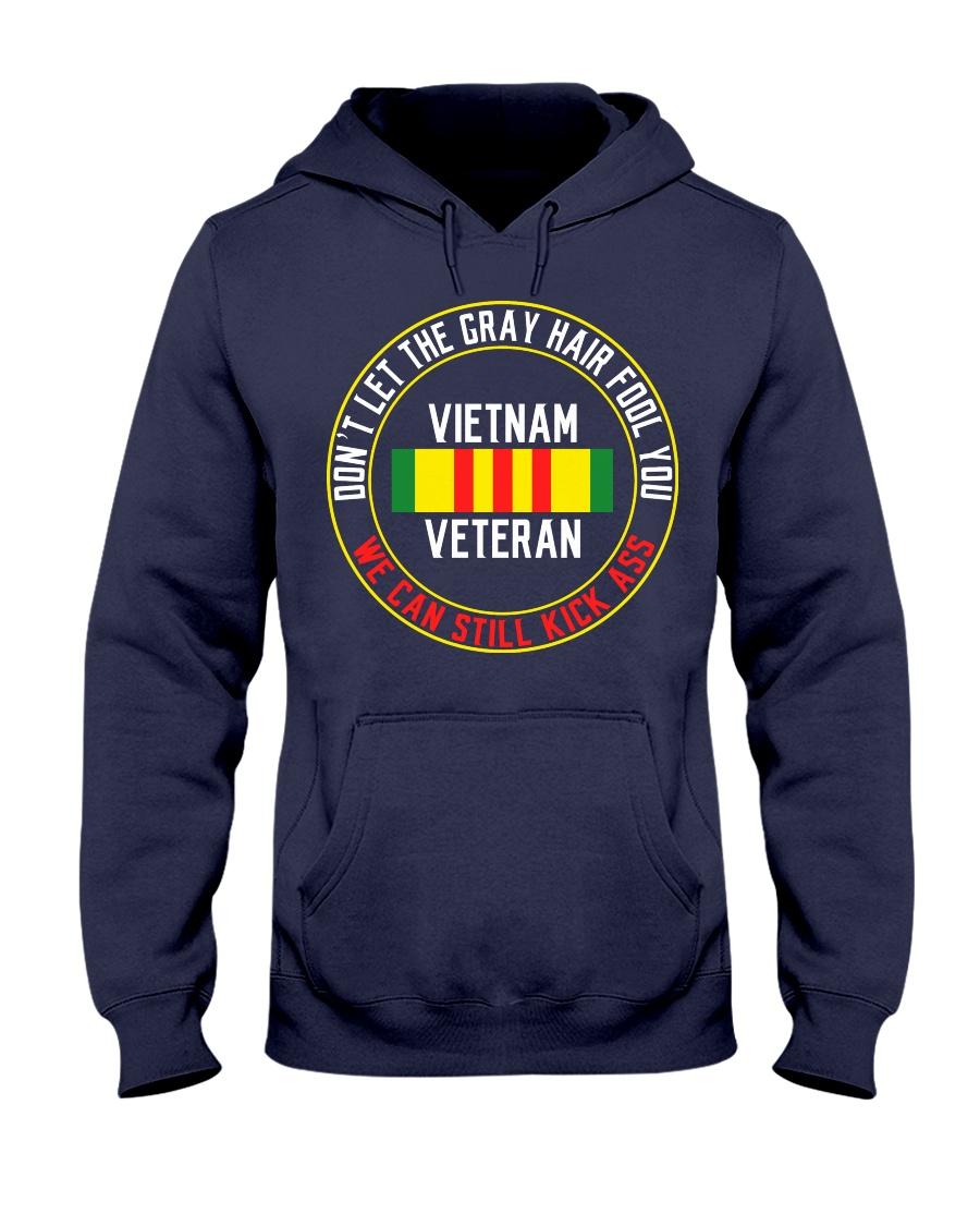 Vietnam Veteran Gray Hair Hooded Sweatshirt
