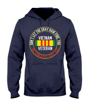 Vietnam Veteran Gray Hair Hooded Sweatshirt front