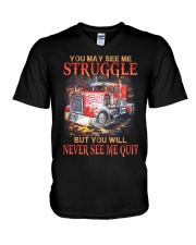 Never Quit V-Neck T-Shirt thumbnail
