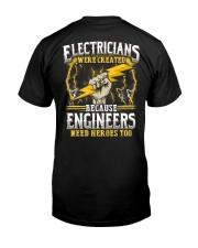 Electrician Hero Classic T-Shirt back