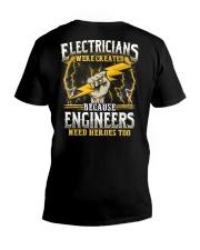 Electrician Hero V-Neck T-Shirt thumbnail