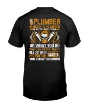 Mafia Plumber Classic T-Shirt back