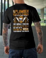 Mafia Plumber Classic T-Shirt lifestyle-mens-crewneck-back-3